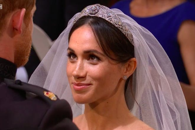 23. When Meghan looked at Harry after he lifted her veil