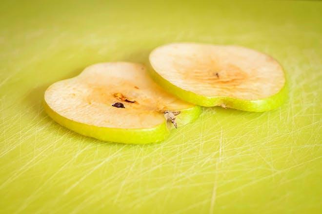 Brown apple