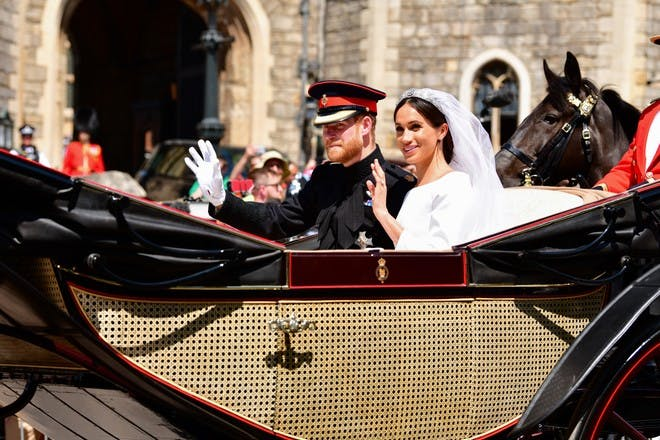 Prince Harry and Meghan Markle carriage at royal wedding