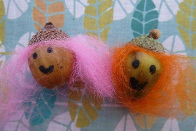 acorns with hair