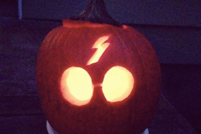 Glasses and scar pumpkin