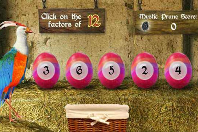 Factors and multiples maths game