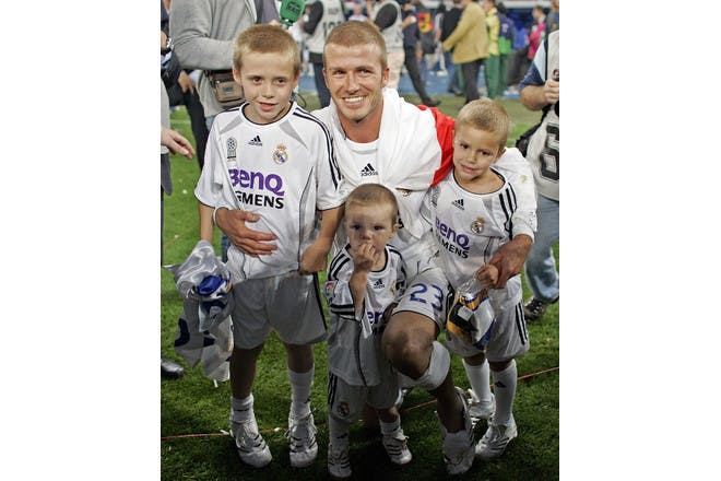 David, Brooklyn, Romeo and Cruz Beckham