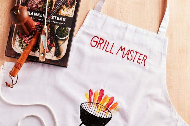 Homemade grilling apron