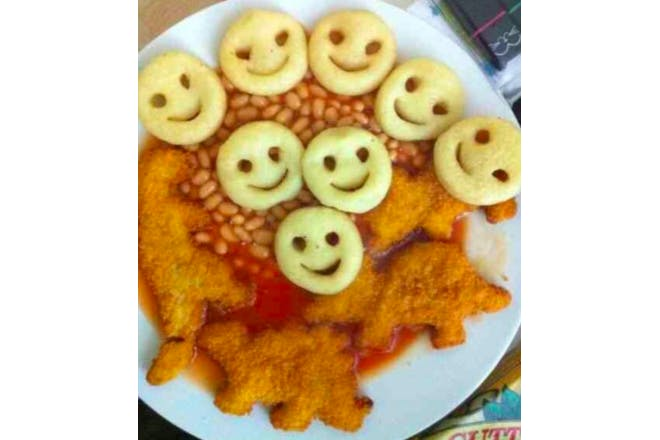 Turkey Dinosaurs and Smiley Faces 90s dinner