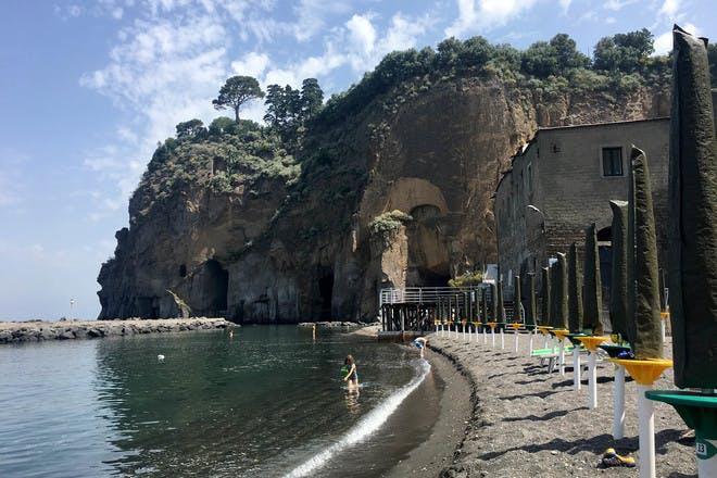 The beach at Piano di Sorrento