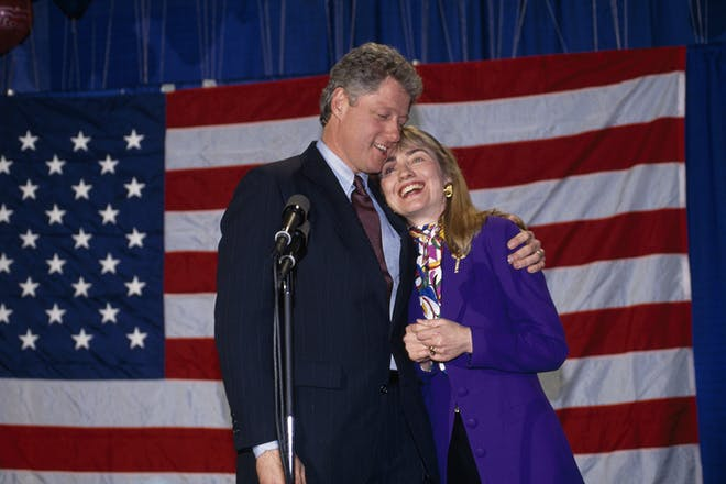 Hilary and Bill Clinton