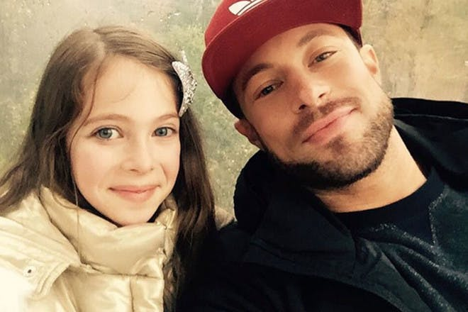 Duncan James with daughter