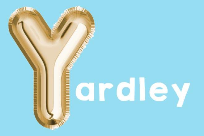 Yardley 'y' name