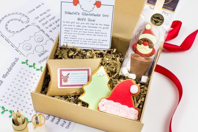 Christmas Eve box with a Christmas craft