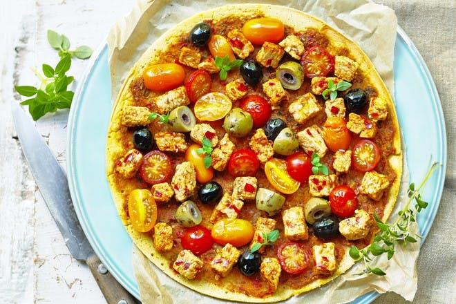 Quorn socca - vegan pancakes with chickpea flour recipe