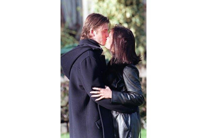 David and Victoria Beckham engagement