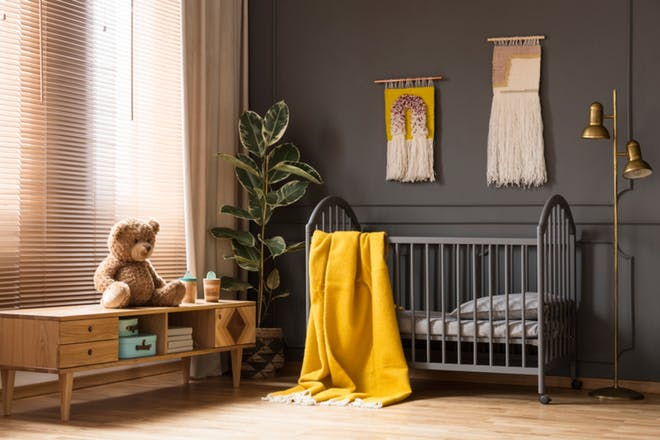 Cot with blanket