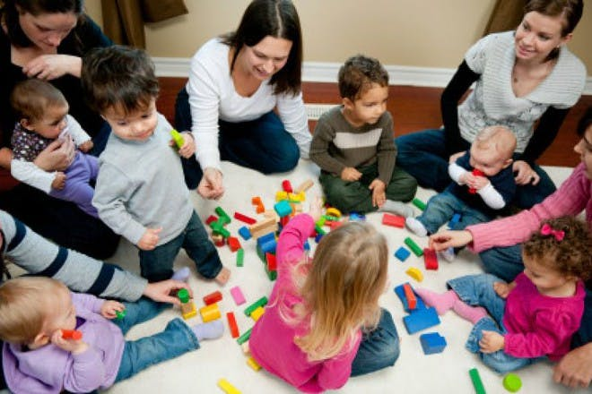 mums and children in play group