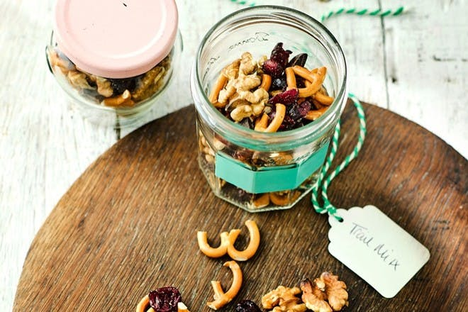 Homemade Trail mix in a jar
