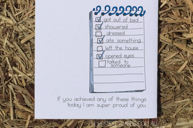 anxiety list card