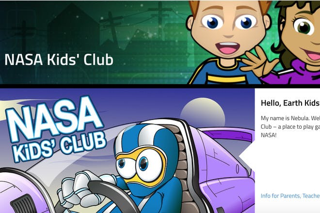 Nasa Kids' Club educational website
