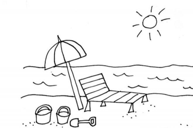 Beach lounging