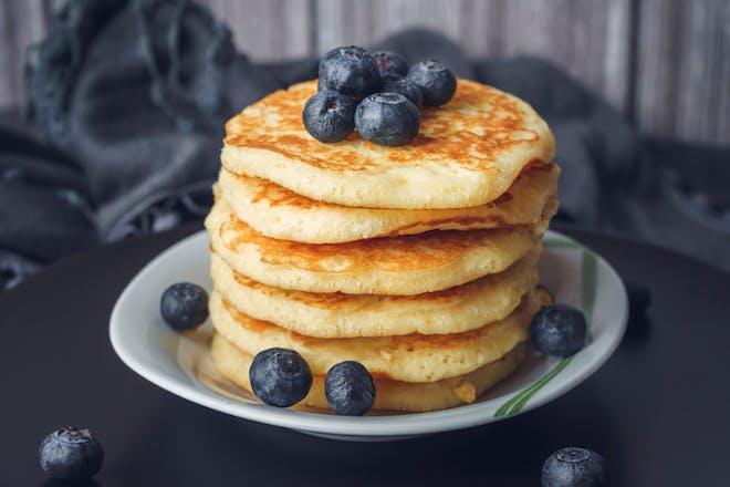 Lower sugar breakfast pancakes