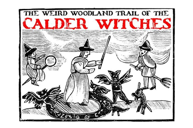 Follow the woodland trail of the Calder Witches at Almond Valley Heritage Centre