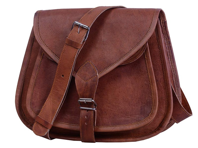 1. Brown Leather Satchel