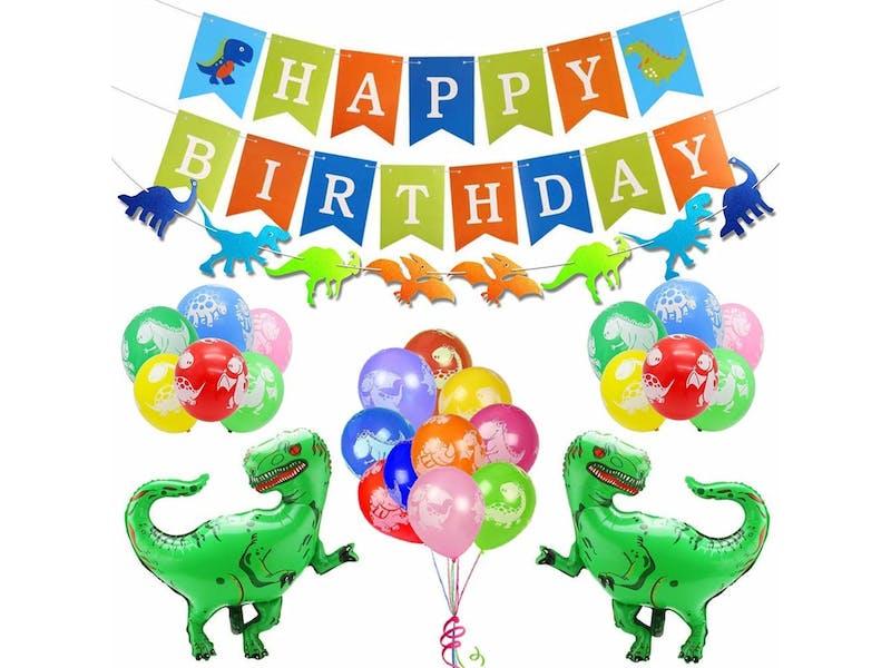 1. Dino birthday decorations