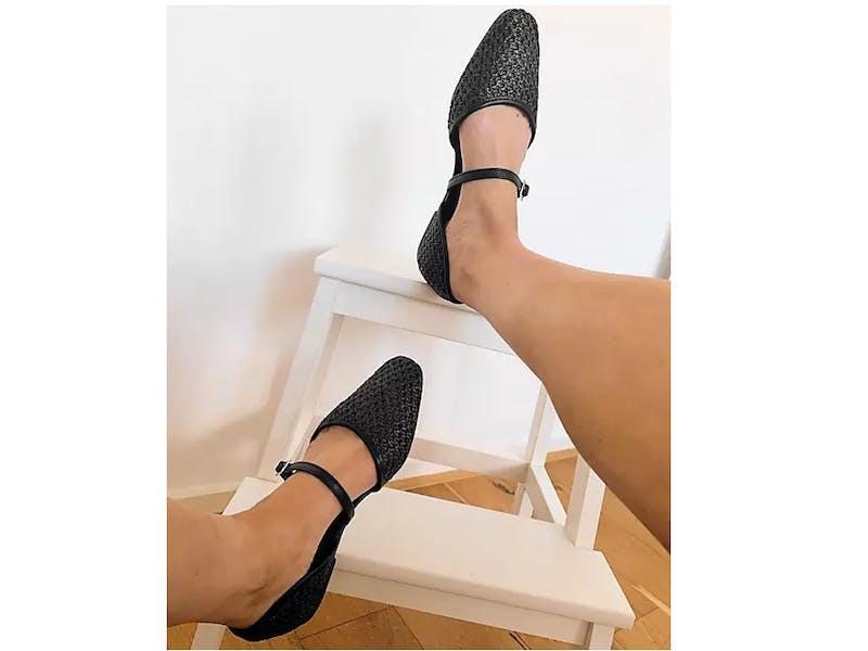 Lisa Woven Mary Jane Ballet Flats