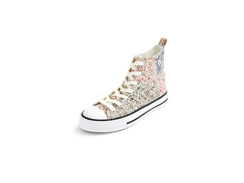 8. Floral High Top Trainers, £8
