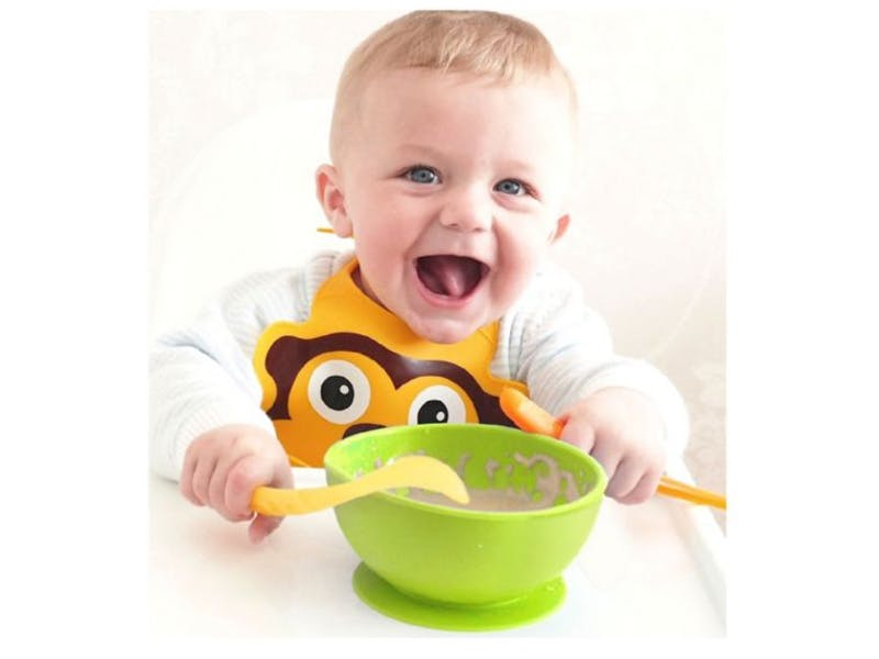 Nuby Silicone Suction Weaning Bowl