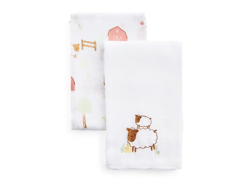 4. Muslin Cloths (two-pack), £4
