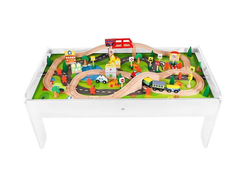 Kids Wooden Train Table