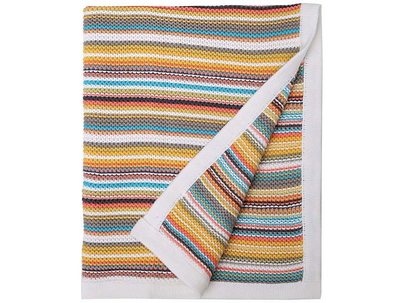 1. Stripy Pram Blanket