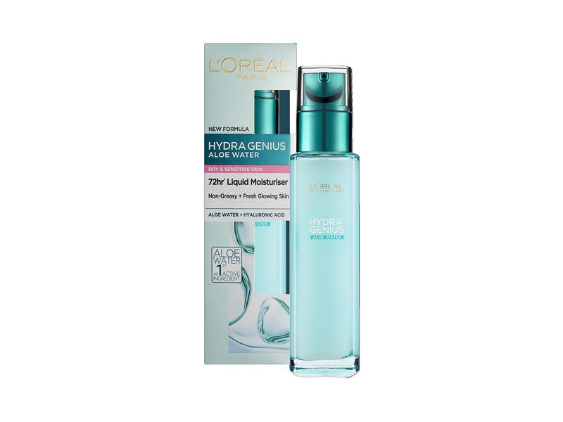 4. L'Oreal Paris Hydra Genius Hyaluronic Acid + Aloe Liquid Hydrating Moisturiser for Dry to Sensitive Skin WAS, £9.99 NOW