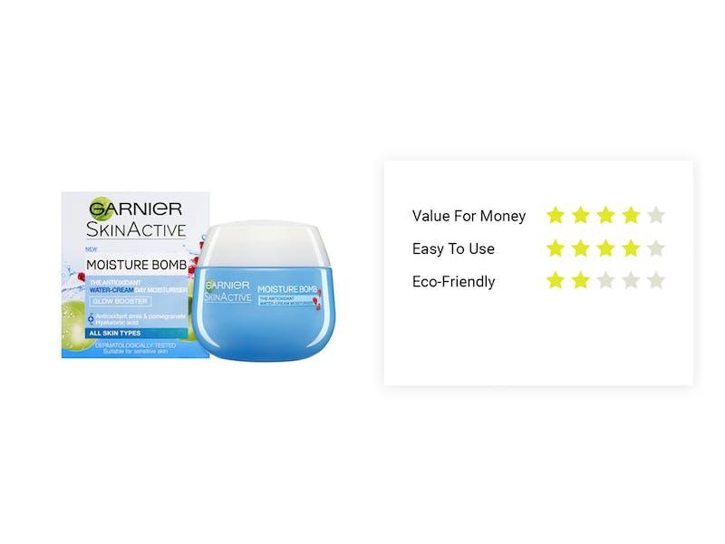 2.  Garnier Moisture Bomb Antioxidant Overnight Gel-Cream, £5.33