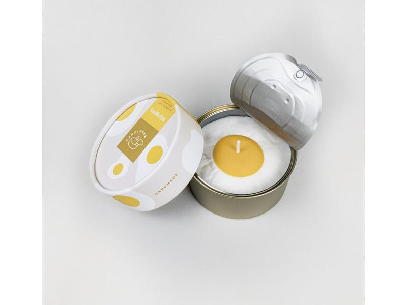 Vanilla Egg Candle Can