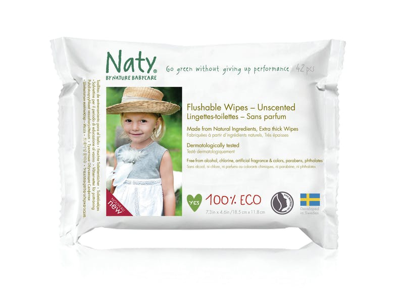 7. Unscented Eco Flushable Wipes (12-pack)