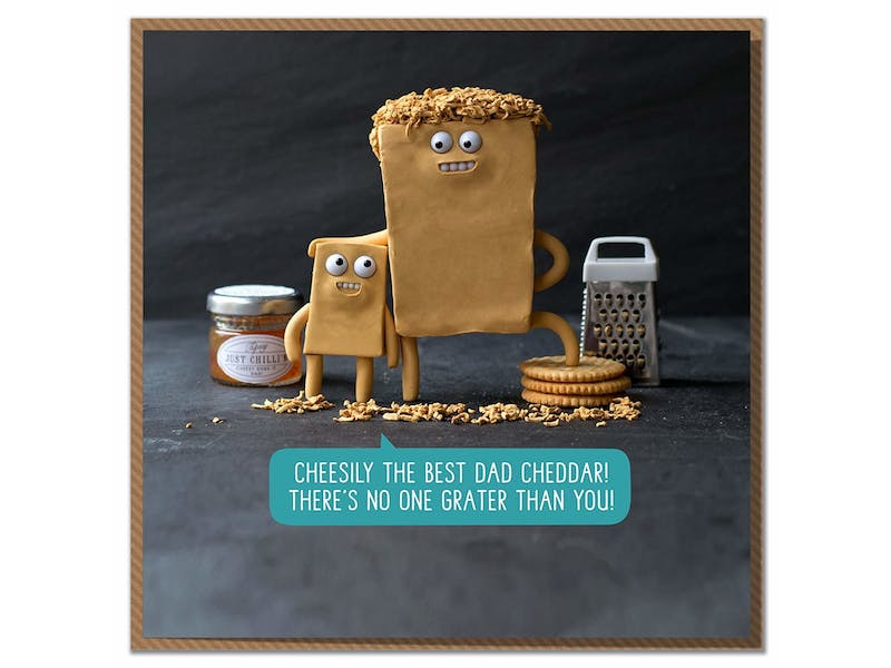 6. Cheesy Father's Day Card