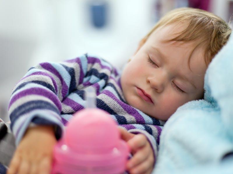 4. Sleeping on the plane