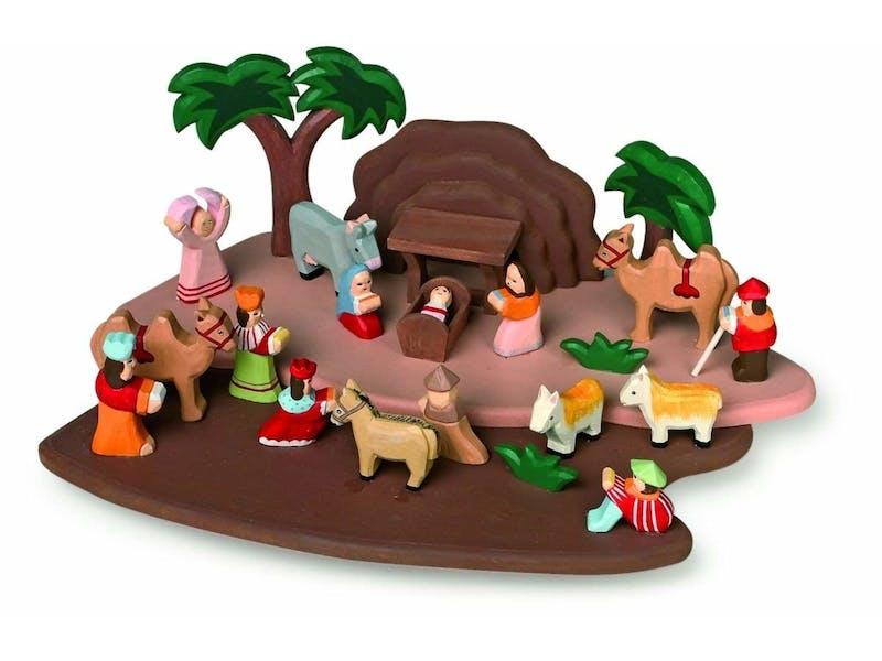 1. Legler Wooden Nativity Set