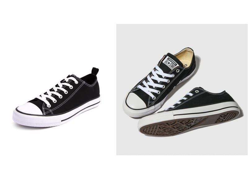 Black Trainers and Converse All Star