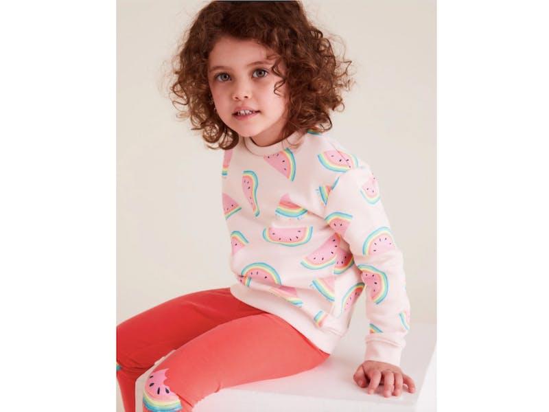 Organic Cotton Melon Print Sweatshirt