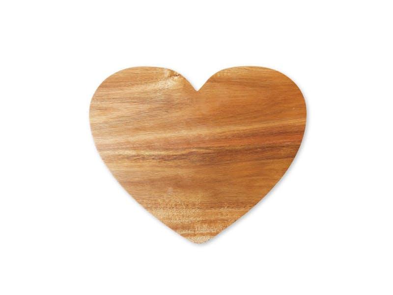 Heart Acacia Wood Serveboard