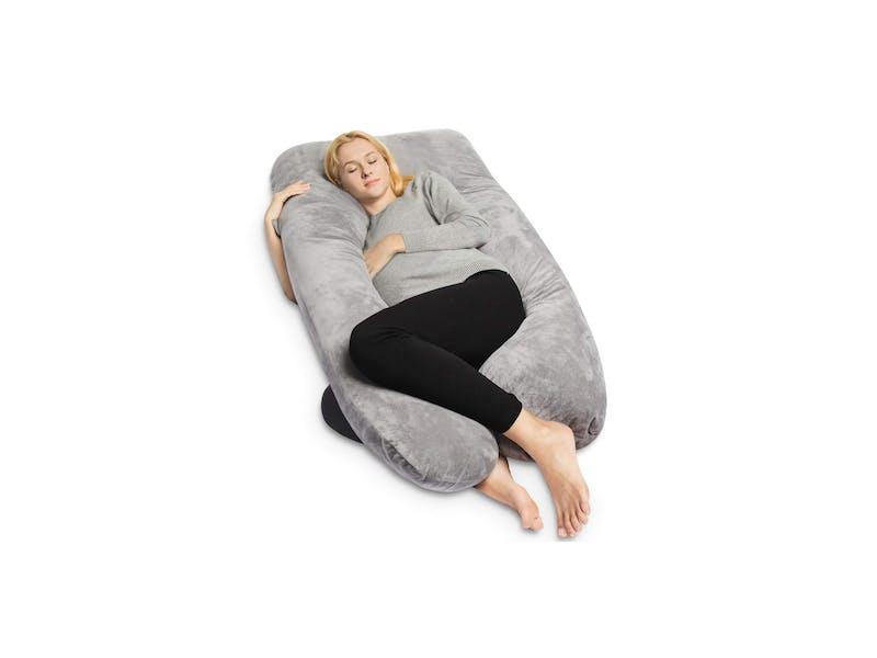 1. QUEEN ROSE Full Body Pregnancy Pillow