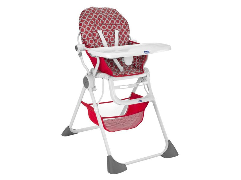 5.  Pocket Lunch Highchair in Red Wave