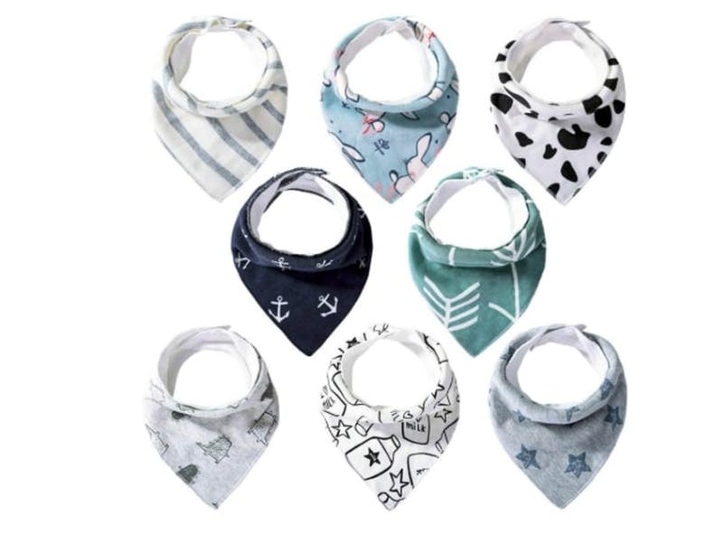 2. Baby Bandana Dribble Bibs (Pack of Eight)