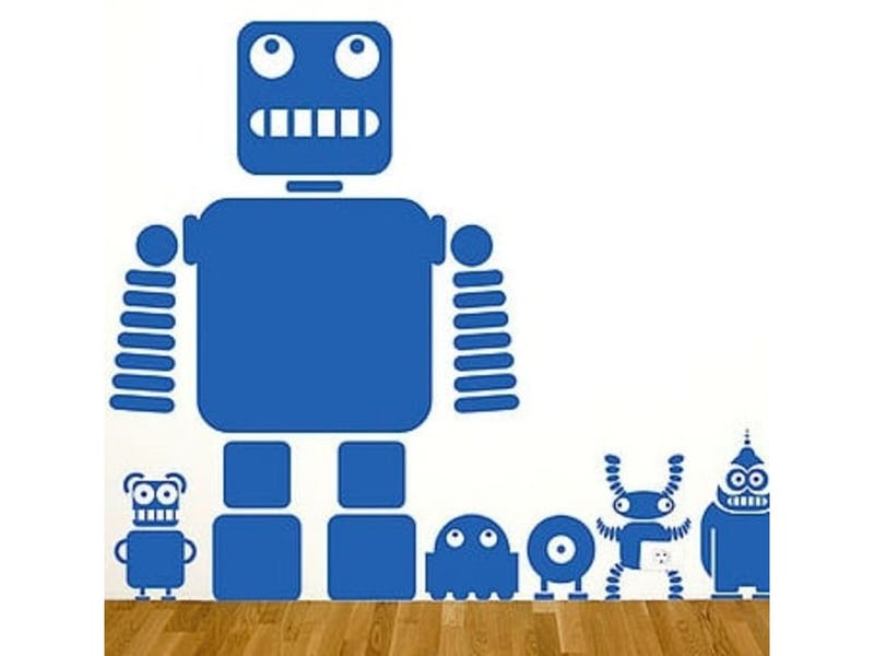 8. Robots and Aliens Wall Sticker Set, £17.60
