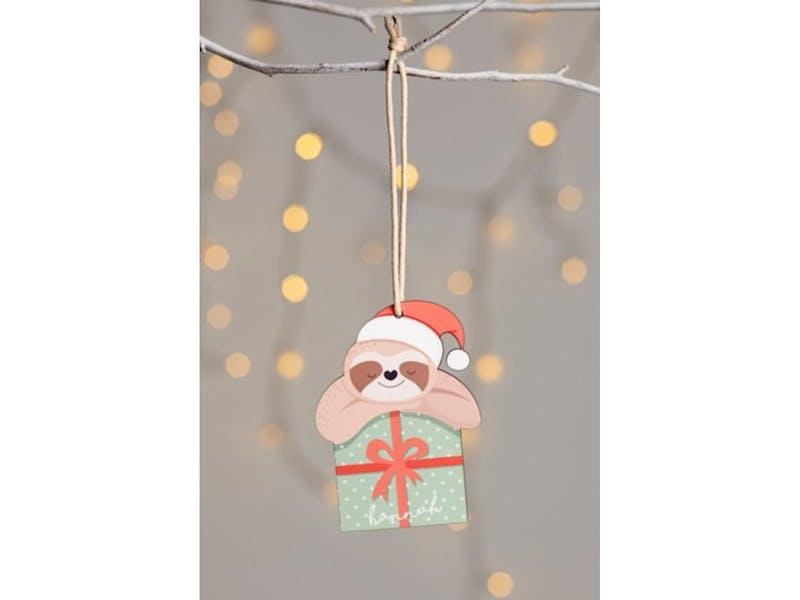 1. Personalised Sloth Hanging Decoration, £8.00