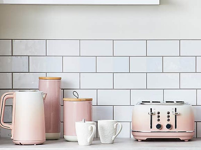 Ombre Effect Blush Pink Toaster