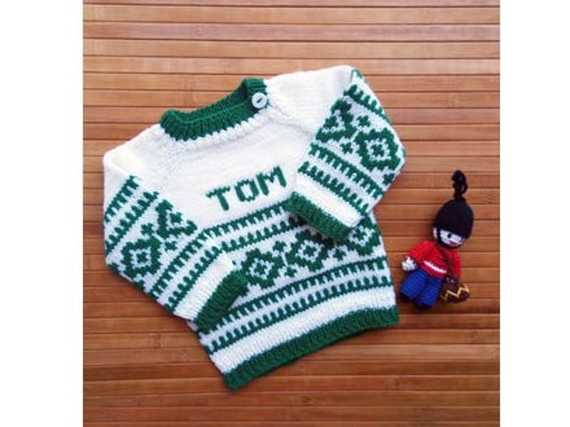 Personalised Argyle Handmade Jumper