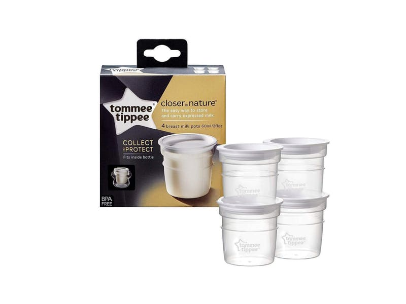 3.  Tommee Tippee Milk Storage Pots (four-pack)